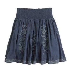 J. Crew Embroidered Gauze Skirt